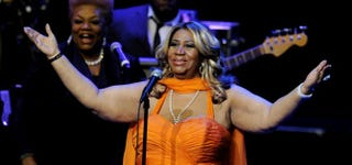 Aretha Franklin performs at the Nokia Theatre L.A. Live in Los Angeles July 25, 2012.Kevin Winter/Getty Images