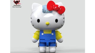 Illustration for article titled Hello Kitty in Super Robot Form