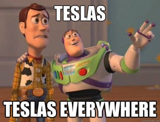 Illustration for article titled Tesla's are taking over the North Shore