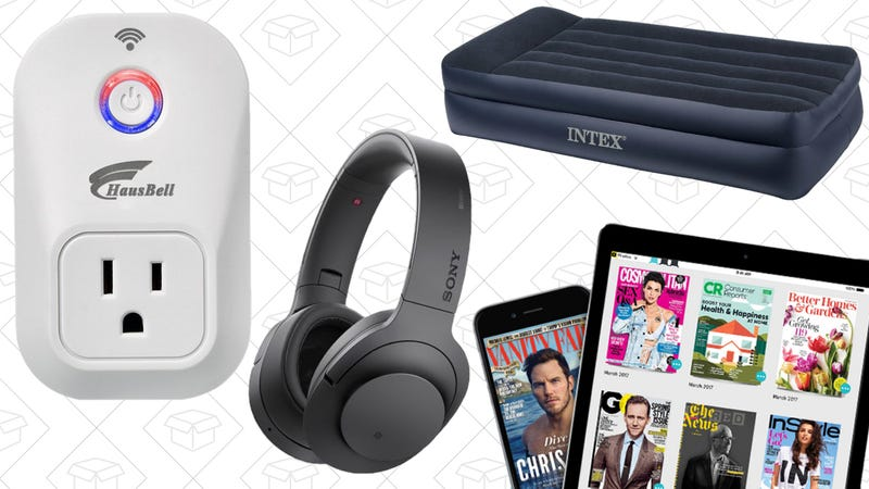 Illustration for article titled Saturday's Best Deals: Air Mattress, Alexa-Enabled Smart Plugs, Vizio Soundbar, and More