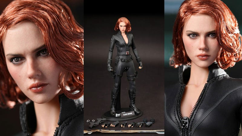 Illustration for article titled Avengers Action Figure Looks Just Like a Tiny Scarlett Johansson