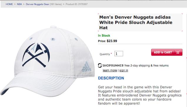 "Denver Nuggets ""White Pride"" Hat Provides A Valuable …"