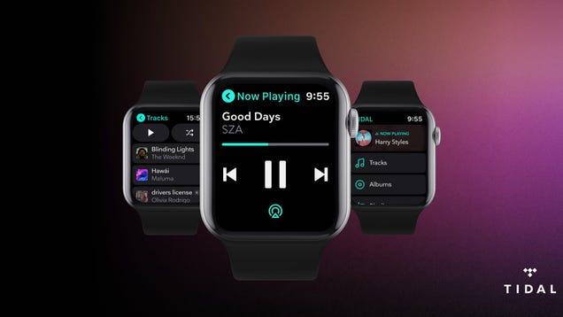 Tidal s Apple Watch App Lets You Stream Tunes Offline