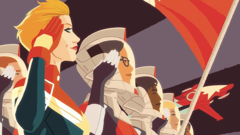 Illustration for article titled Exclusive Marvel preview: Captain Marvel investigates a mysterious alien ship