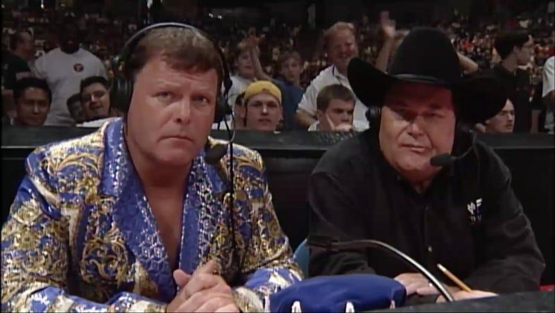 Jerry Lawler and Jim Ross announce Owen Hart's death (Screenshot/WWE Home Video)