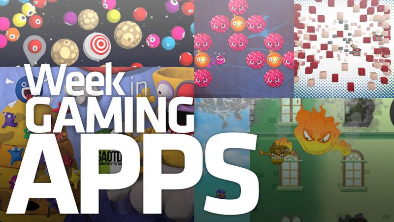 Illustration for article titled Clay Balls, Eyeballs, Pixels and Falls: It's the Week in Gaming Apps