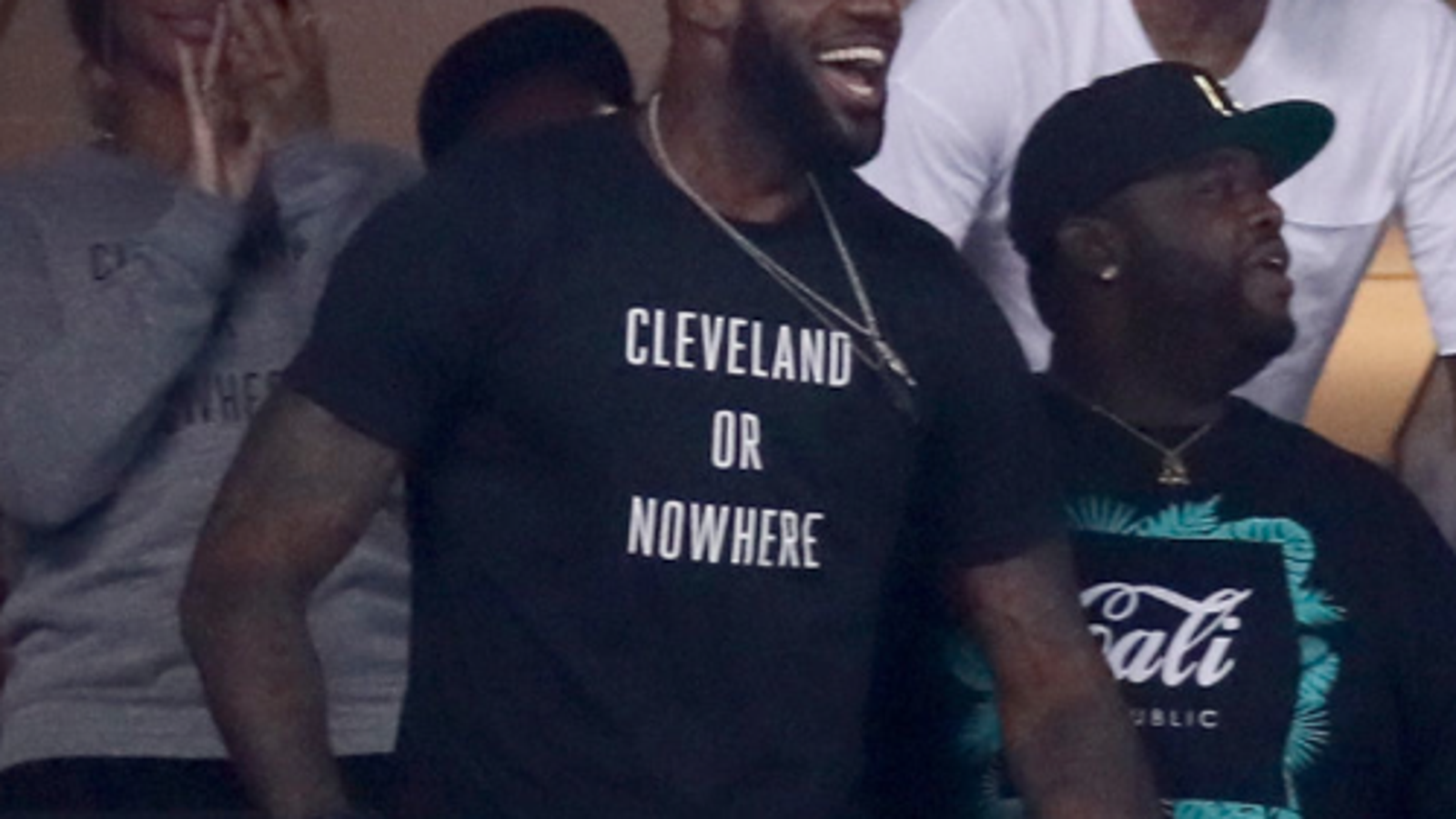 low priced 55a6b a16bf LeBron James Wears T-Shirt and Helps a Small Business's ...