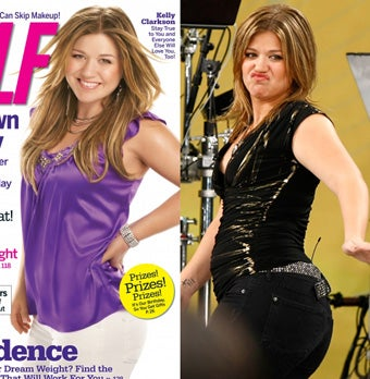 Illustration for article titled Kelly Clarkson Slimmed Down On Self Via Photoshop