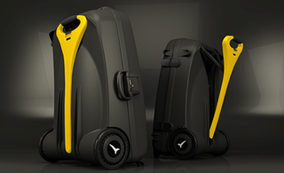 Illustration for article titled LiveLuggage Power-Assisted Suitcase Lightens the Load for Travellers