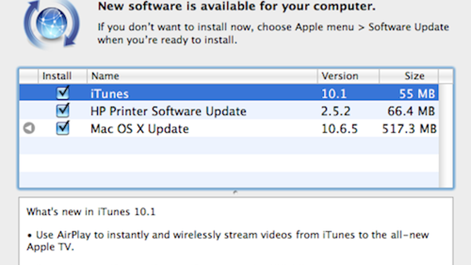 iTunes Updates to 10 1, Adds AirPlay, iOS 4 2 Support, and