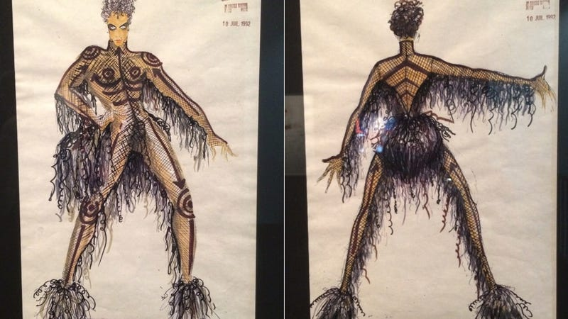 Illustration for article titled Fifth Element concept art reveals Prince's original look as Ruby Rhod