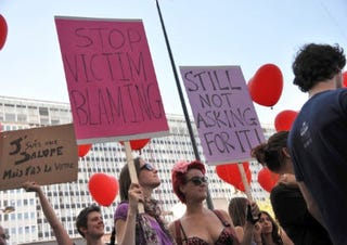 Women participate in SlutWalk. (Getty Images)