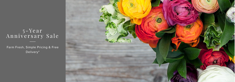 Deluxe bouquet for the price of Original with code TOFIVEMORE