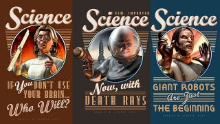 Illustration for article titled Celebrate Science with These Insane Retro Posters