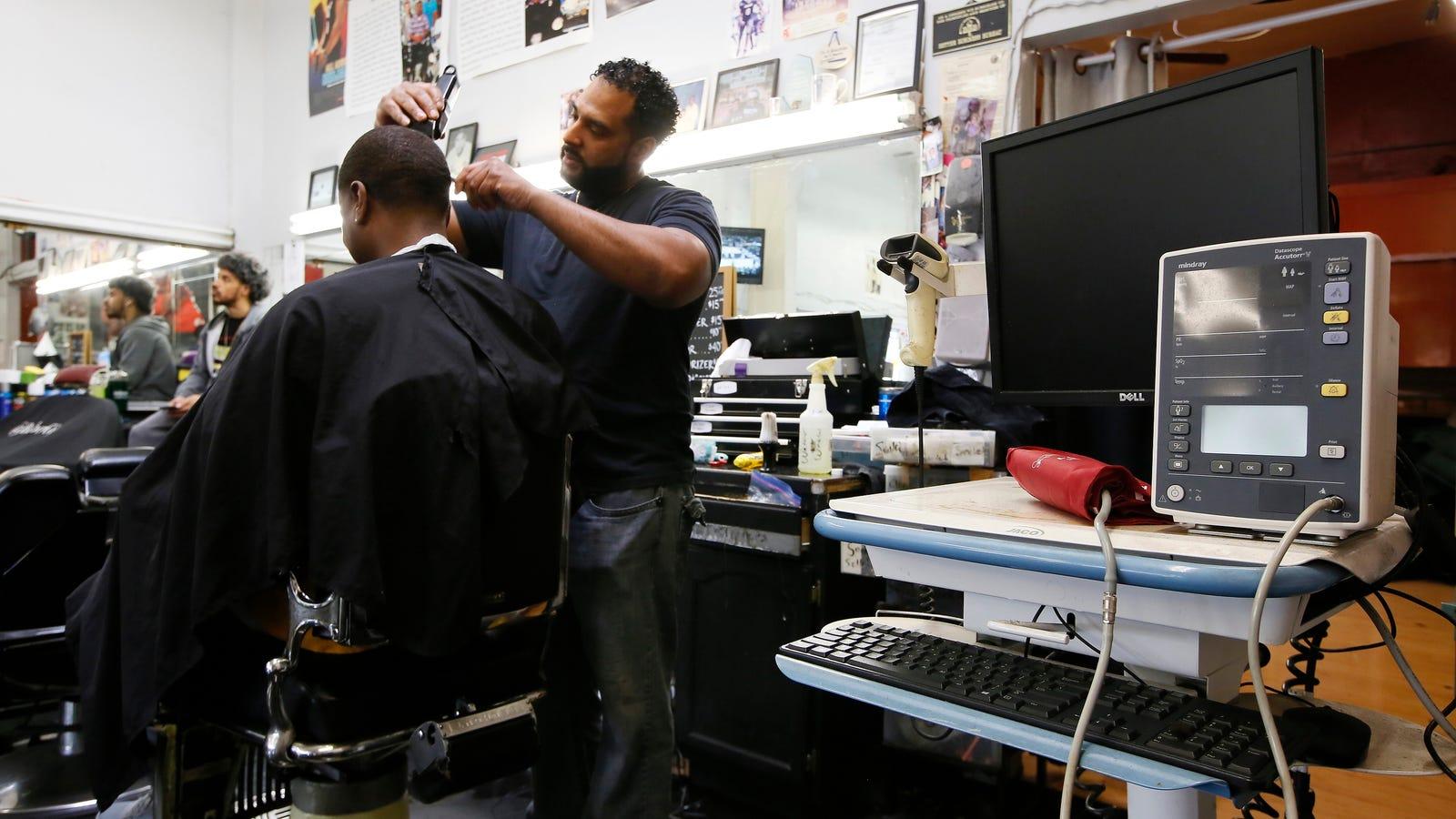 photo image Black-Owned Barbershops in LA Helped Customers Lower Their Blood Pressure