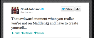 Illustration for article titled Oh Man, Chad Johnson, This Tweet Is Heartbreaking [UPDATE]