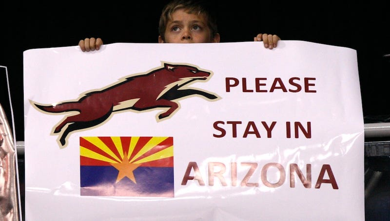 Illustration for article titled The Coyotes Will Stay In Arizona—For Now