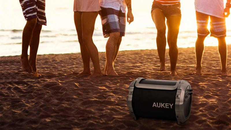 Aukey Portable Bluetooth Speaker with Microphone | $45 | Amazon | Promo code FORMOM17