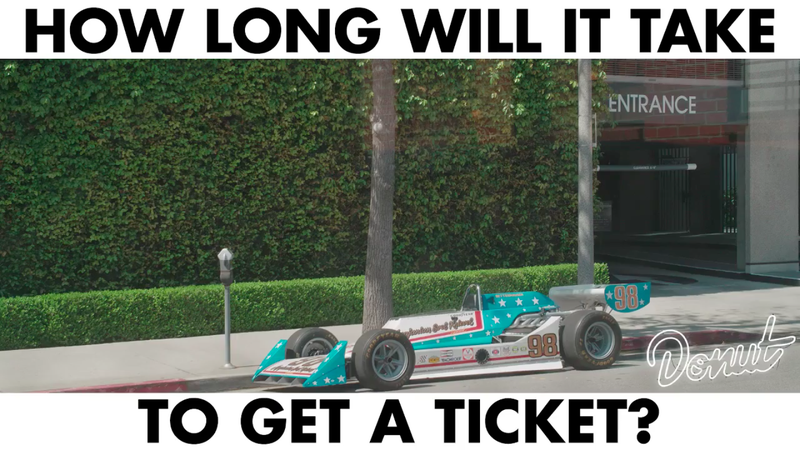 Illustration for article titled How Long Will It Take LA To Ticket This Street Parked 1977 Indy Car?