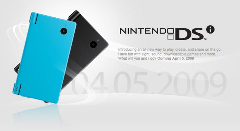 Illustration for article titled Nintendo DSi Arriving April 5th for $170