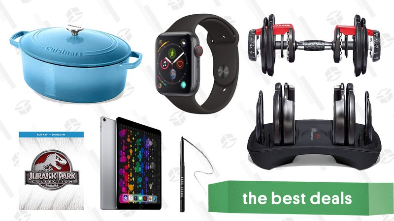 Illustration for article titled Tuesday's Best Deals: Bowflex Dumbbells, Refurb iPad Pros, Cuisinart Cast Iron, and More