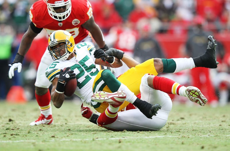"""Illustration for article titled Ryan Grant Says The Only Formula For Beating The Packers Is """"Us Making Mistakes"""""""