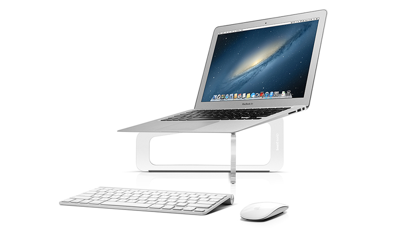 Illustration for article titled Your Laptop Looks Like It's Floating With This Magical MacBook Stand