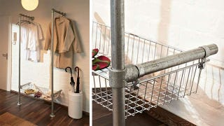 Illustration for article titled Build a Simple, Stylish, Industrial-Style Clothing Rack with Pipes
