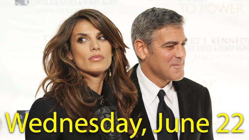 Illustration for article titled George Clooney & Elisabetta Canalis Split