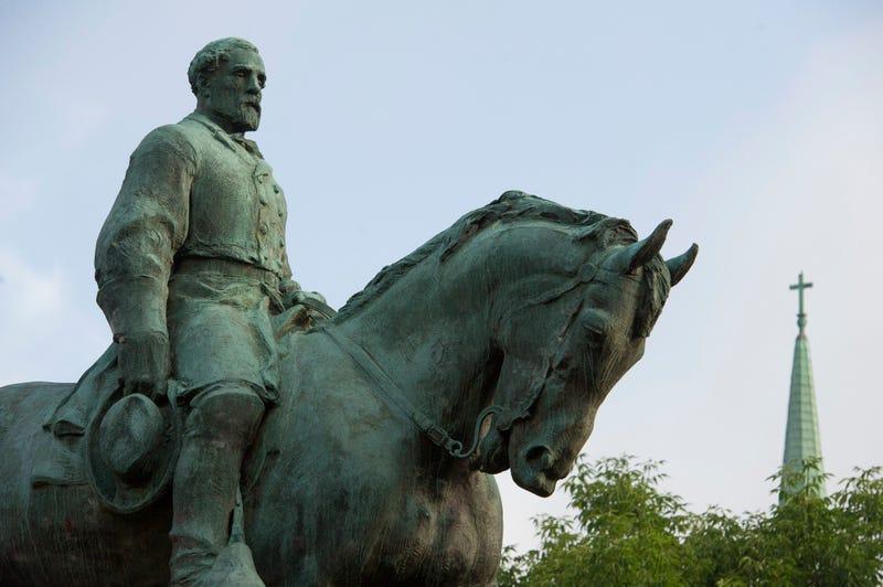 The statue of Confederate  Gen. Robert E. Lee at Emancipation Park in Charlottesville, Va. (Cliff Owen/AP Photo)