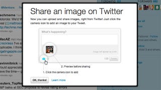 Illustration for article titled You Can Finally Share Photos Natively Using Twitter