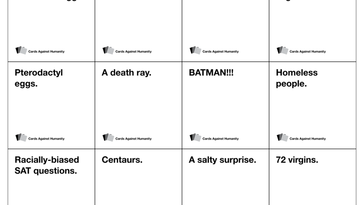 Image of: Blank Cards Unilad Have You Played The Hilariously Offensive Game cards Against Humanity