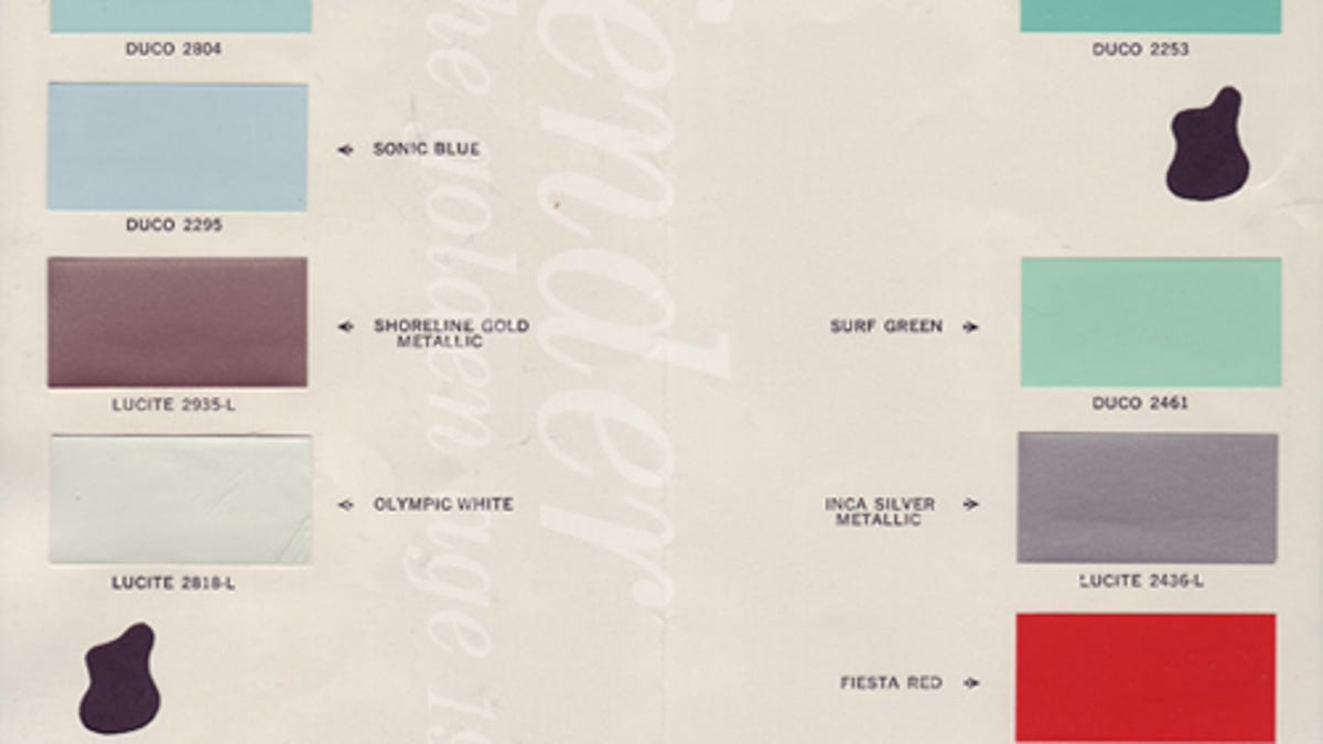 This Is Fender Guitar Color Chart From 1961