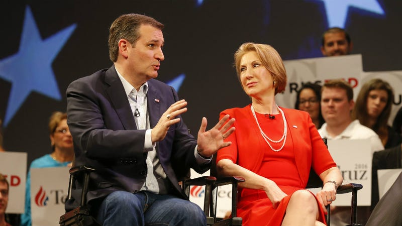 Illustration for article titled Ted Cruz and Carly Fiorina to Team Up in My Nightmares, and Also the Election
