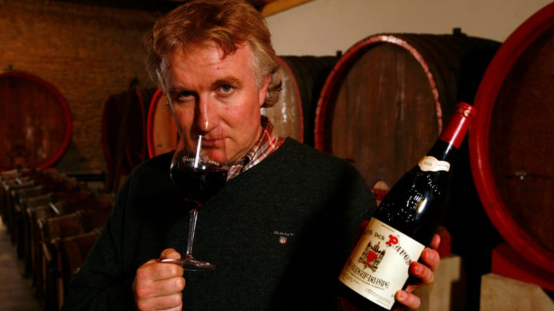 Lauded French winegrower Paul-Vincent Avril poses in his cellar.
