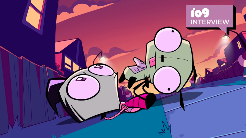 Zim and Gir hanging out.