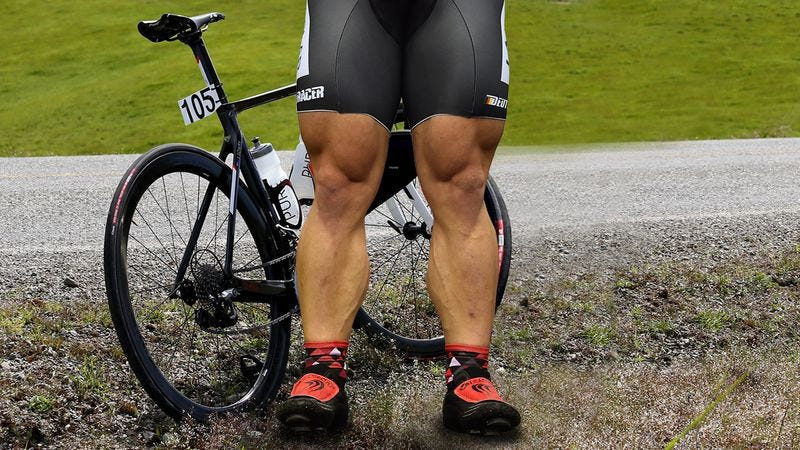 Shrink Down These Cyclists' Weirdly Huge Calves A Little