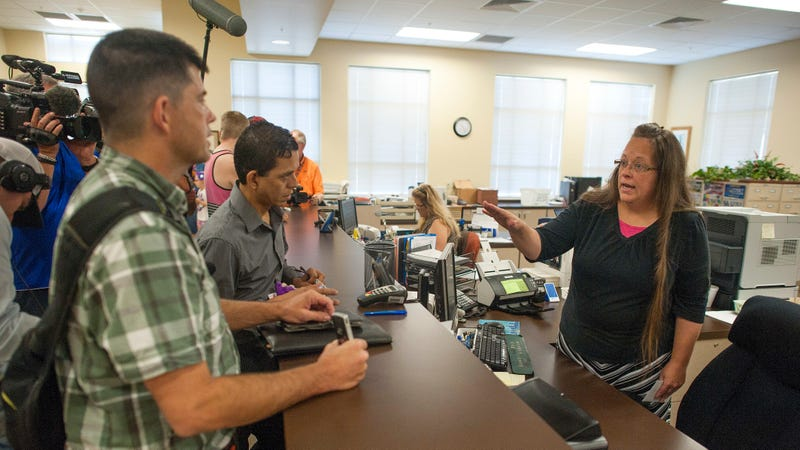 Kim Davis, refusing to let people get married. (Photo: Getty Images, Ty Wright)