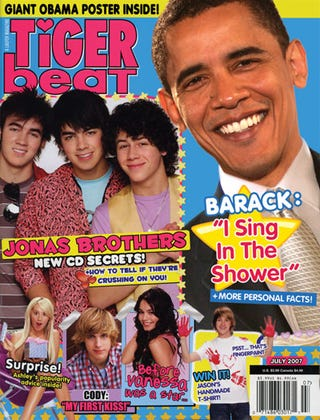 Illustration for article titled Barack Obama 'Tiger Beat' Cover Clinches Slumber Party Vote