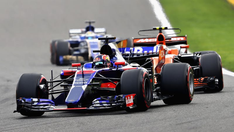 Stoffel Vandoorne, who had to suffer the woes of a Honda F1 engine this year, following Daniil Kvyat, whose Toro Rosso team got rid of him before he could feel the pain of a Honda engine, in Belgium. Photo credit: Mark Thompson/Getty Images