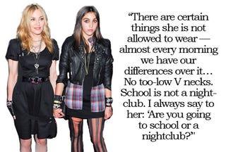 Illustration for article titled Madonna Won't Let Lourdes Wear Skimpy Outfits