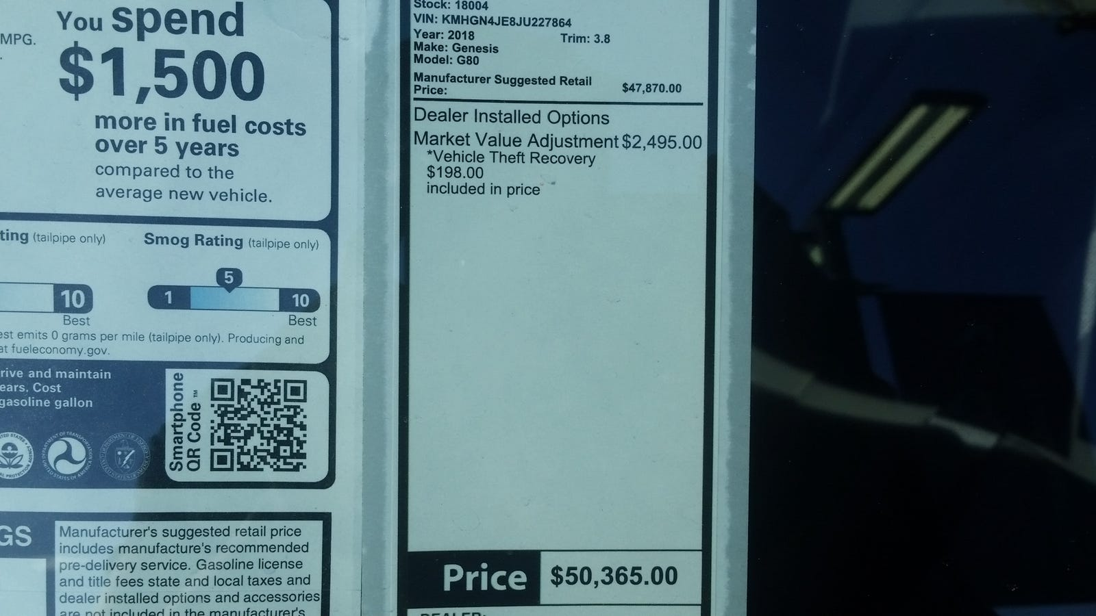 Seriously, $2,500 Market Adjustment on ALL Hyundais?!