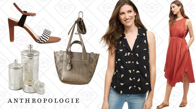 Seychelles Prime Heels, $60 | Monarch Mercury Jar, $8-$20 | Pascala Vegan Leather Crossbody Bag, $40 | Winnie Buttondown, $50 | Costa Midi Dress, $100