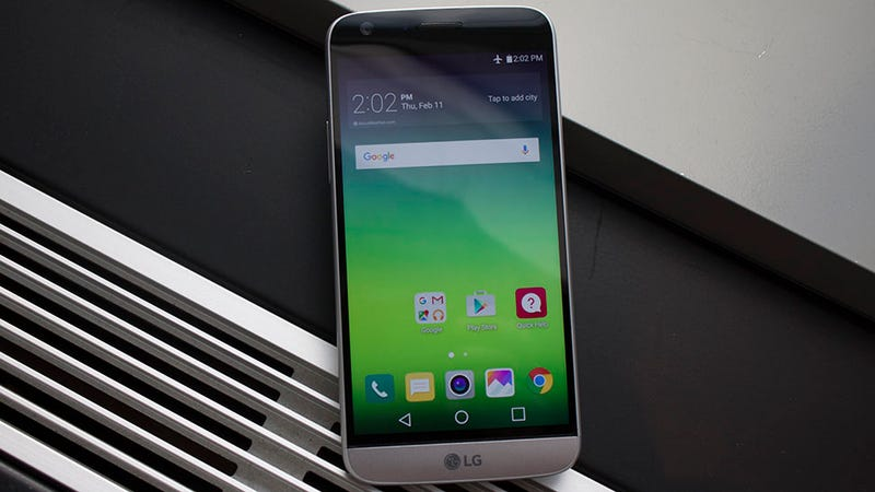 Illustration for article titled LG's G5 Is Like an All Metal Phone Prototype From The Future