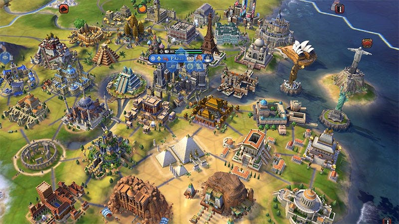 Civilization VI Madman Builds 34 Wonders In One City
