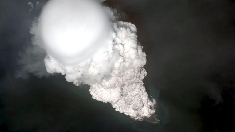 An eruption at Bogoslof volcano on May 28, 2017.