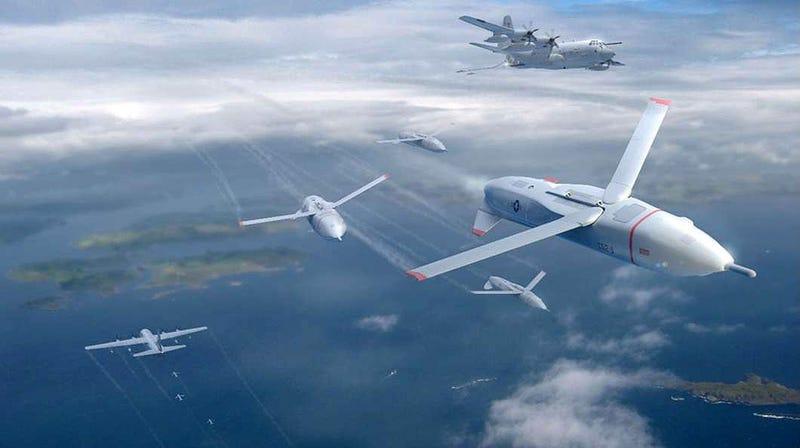 Illustration for article titled Así son los Gremlins de DARPA, drones capaces de operar desde aviones nodriza