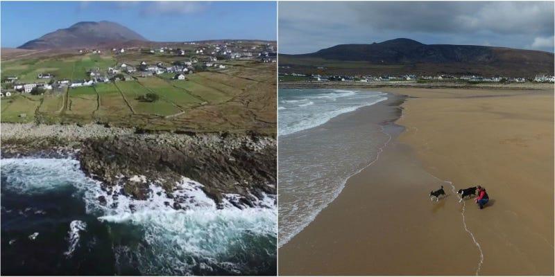 'Renace' en Irlanda una playa de arena dorada desaparecida hace décadas (vídeo)