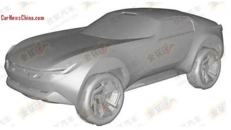 Illustration for article titled Chinese Off-Road Sports Car Concept Looks Like A Sweet Hot Wheels Toy