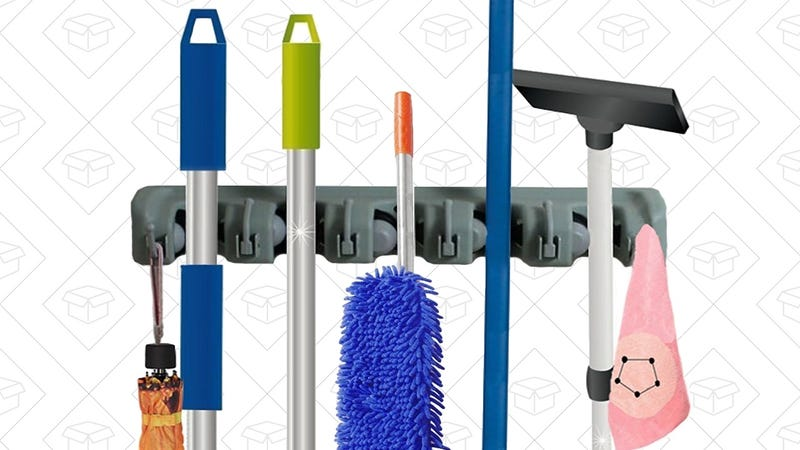 RockBirds Broom and Mop Holder, $10 with code JKBIZTKP